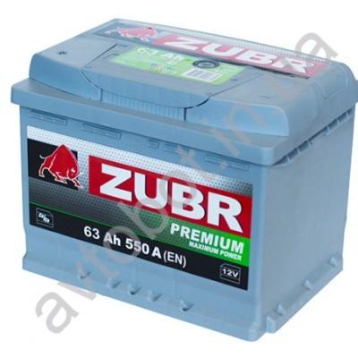 Аккумулятор Zubr Premium 63аh